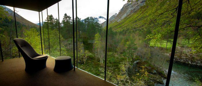 Utsikt fra Juvet Landskapshotell
